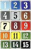 Wetterfestes Emaille Hausnummernschild 2-stellig mit Wunschzahl / Buchstaben 14x12 cm