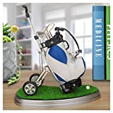 10L0L Golf Pens with Golf Bag Holder Novelty Gifts with 3 Pieces Aluminum Pen Office Desk Golf Bag Pencil Holder for Men Fathers Day Golf Souvenirs Unique Gifts For Golfer Fans Coworker b