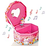 Style Girlz Unicorn Musical Jewellery Box & Heart Lock - Contenitore per Bambine Keepsake