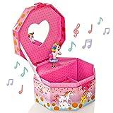 Style Girlz Unicorn boîte à Bijoux Musicale et Serrure de Coeur - Box Keepsake Filles