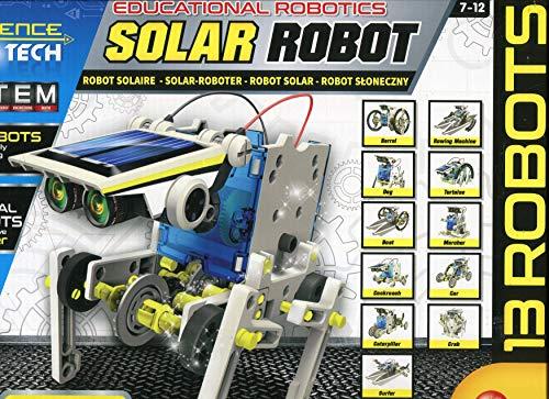Lisciani- Robot Solaire CONSTRUCTIONS - MULTIROBOT 14 MODELES Energies SOLAIRE/MOUVEMENT-73252, 73252, Multicolore