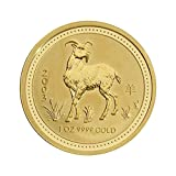 """1 oz Australien - 100 AUD Lunar I """"Ziege"""" 2003 - 1 Unze 999,9/1000 Gold - gekapselt"""