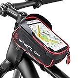 """Borse da Telaio da Bicicletta,Furado Borsa Bicicletta Impermeabile,Borsa Bicicletta Telaio con Foro per Cuffia,Touchscreen TPU Altamente Sensibile per 6 """"Smartphone, Bicicletta Cellulari Supporto per iponeX / iPhone 7s Plus / 6s Plus / Samsung S7"""