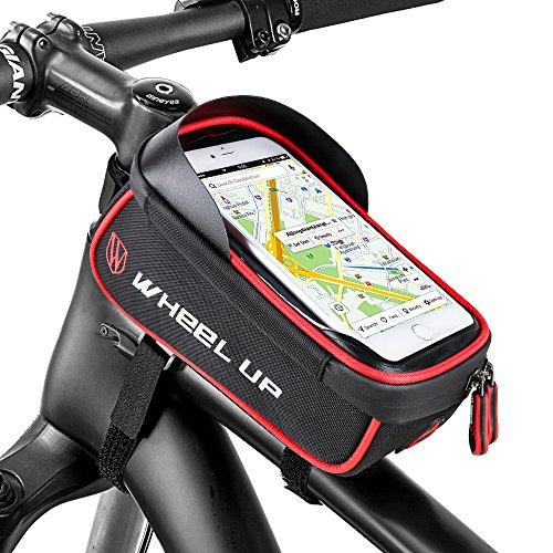 Furado Rahmentasche,Wasserdichter,Kopfhörerloch,TPU Touchschirm,Fahrradtasche Rahmentaschen Geeignet für Smartphones Innerhalb von 6 Zoll, für iponeX / iPhone 7s Plus / 6s Plus / Samsung S7 (Hohe Kapazität Licht)