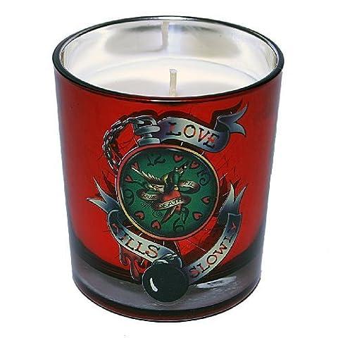 Ed Hardy Candle 8-Ounce Metallic Jar Love Kills Clock by Ed Hardy