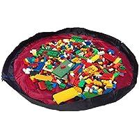 Tappetino da gioco e borsa per conservare i giocattoli prodotto da Bow-Tiger™ – Tappetino multiuso per le attività dei bambini, che si ripiega per diventare un oggetto portatile dove conservare i giocattoli. Assicurati che il tuo bambino si diverta, senza preoccuparti del disordine!