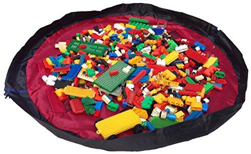 Alfombra juegos niños bolsa almacenar juguetes Bow-TigerTM