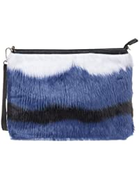 36802bc97b Haute For Diva s Womens Large Soft Faux Fur Multicolour Party Casual  Wristlet Clutch Hand Bag