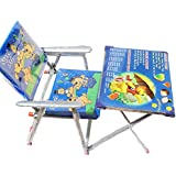 SLICETER Baby Boy's And Girl's Study & Play Wodden Table Chair Kids Folding Study Table And Chair