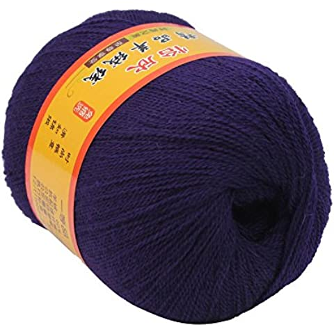 New Best Price viola matassa del filato per maglieria cashmere lana pettinata super soft Smooth fibra a mano Knit accessori per cucire Anti Fade