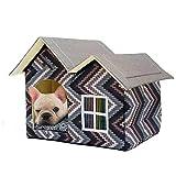 SH-Flying Haustierbett, Warmer Haustierhundezwingerzylinderwelpenhaus-Plüschhund, Katzenkätzchenbett-Haustierinnenhaus