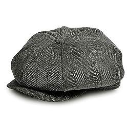 AYAMAYA Schirmmütze Herren Damen, Newsboy Cap Tellermütze Barett Herren Mütze Flat Cap Einstellbare Größe Sommer/Winter