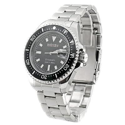 Nautec No Limit Deep Sea DS6300 /STBK - Reloj de caballero automático, correa de acero inoxidable color plata de Nautec No Limit