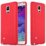 Cadorabo Hülle für Samsung Galaxy Note 4 - Hülle in Candy Rot – Handyhülle aus TPU Silikon im Candy Design - Silikonhülle Schutzhülle Ultra Slim Soft Back Cover Case Bumper