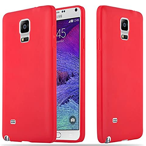Cadorabo - Ultra Slim TPU Candy Etui Housse Gel (silicone) pour Samsung Galaxy NOTE 4 (N910) - Coque Case Cover Bumper en CANDY-ROUGE