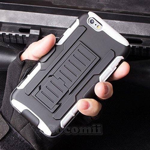 iPhone 6S Plus / iPhone 6 Plus Schutzhülle, Cocomii® [HEAVY DUTY] iPhone 6S Plus / iPhone 6 Plus Robot Case **NEUE** [ULTRA ZUKUNFT RÜSTUNG] Premium Gürtelclip-halfter Ständer Hülle [MILITARY DEFENDER White