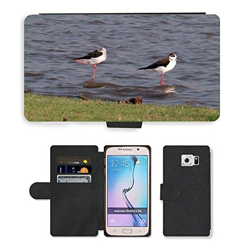 hello-mobile PU LEDER LEATHER FLIP CASE COVER HÜLLE ETUI TASCHE SCHALE // M00137338 Stelzenläufer Gemeinsamen Stelzenläufer // Samsung Galaxy S6 (Not Fits S6 EDGE)