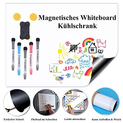 Kricson Magnettafel Kühlschrank Whiteboard, A3 Schreibwand Weicher Weiße Tafel Selbsthaftend Magnetische Trocken Abwischbar Für Kühlschrank Wöchentliche