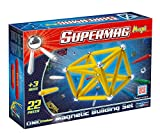 Plastwood Supermag Toys - 0121 - Maxi One Color Magnetic Building Game, 22 Pieces, Assorted Colours