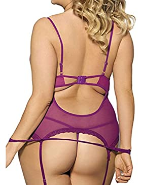 OverDose conjuntos de lencería mujer encaje atractivo ropa de dormir