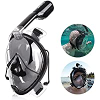 FEMOR Maschera Snorkeling Integrale Anti-Appannamento, Maschera Subacquea Integrale Visione Panoramica, Maschera da Immersione Professioanle Regolabile