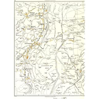 YORKSHIRE:Rishworth,Ripponden,Highlee Wood,Lumb,Barkisland,Soyland 1935 map