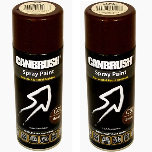 2-x-canbrush-spray-paint-for-metal-plastic-wood-400ml-gloss-finish-brown