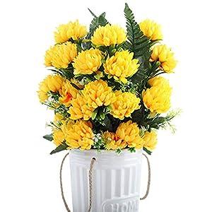 Cranky Orange 4 Colores 52 cm 3 unids 27 Cabezas de Seda Gerbera Margarita crisantemo Flores Artificiales para…