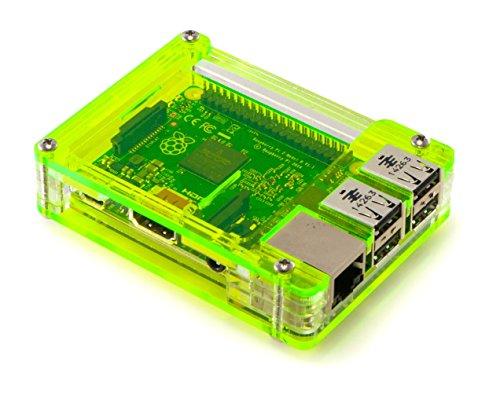 C4Labs Zebra Case-Raspberry Pi B + und 2B (Lazer Lime)