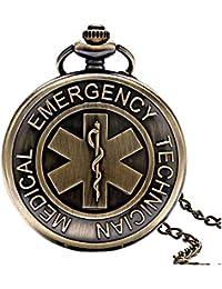 Ermergency Medical reloj a Gousset medicina Cruz de vida Z1