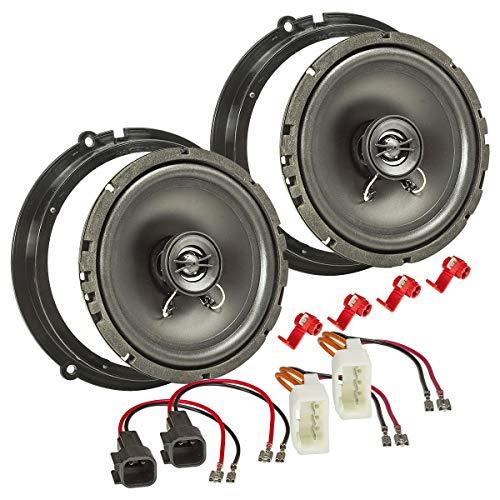 tomzz Audio 4015-011 Lautsprecher Einbau-Set passend für Ford Fiesta JA8 B-Max C-Max Focus Mondeo 165mm Koaxial System TA16.5-Pro