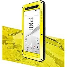 Funda para Sony Xperia Z5Premium (5,5pulgadas), Love Mei marca impermeable IPEGA metal de aluminio con integrado Gorila Protector de pantalla de cristal * two-years garantía *