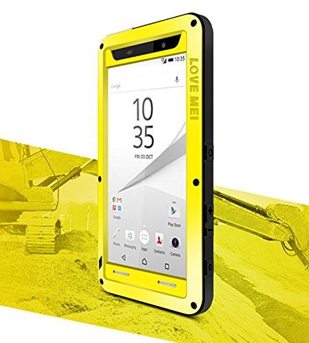 Verizon-handys Wasserdicht (Love Mei Schutzhülle für Sony Xperia Z5 Compact, 11,7 cm (4,6 Zoll) (Gelb))