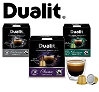 Dualit NX Nespresso Compatible Coffee Capsule Selection. Classic, Intense and Lungo