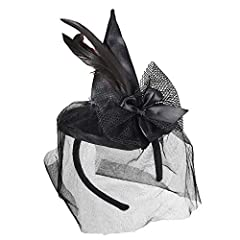 Idea Regalo - WIDMANN Mini Cappello da Strega su Cerchietto per Adulti, Multicolore, Taglia Unica, 9369S