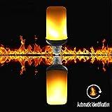QQA Flamme Glühbirne E27 LED Simulierter Flackernder Feuereffekt Glühbirne Dekorative Atmosphäre Lampen Für Hotelbars (1 Stück)