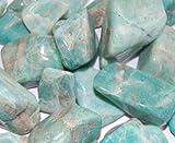 Edelsteine, polierte Trommelsteine, Amazonit, 500 g-Beutel