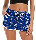 Pantaloncini da Bagno da Donna Flagmingo Pantaloncini da Bagno Estivi Hot Costumi da Bagno Costumi da Bagno Costume da Bagno per Bambina Pantaloni da Salotto per Feste Hawaiian con Coulisse/Tasche M