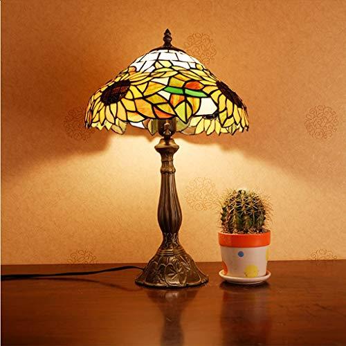 mmer förderung) Europäischen Tiffany Farbe Glas Dekoration Beleuchtung, Metallbasis, Glas Lampenschirm (Größe : 30x48cm) ()
