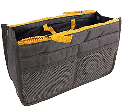 Double Zipper Cosmetic Bags, WITERY Portable Travel Storage Organiser Mesh Toiletries Make up Bag Cosmetic Bag Make-up Beauty Wash Bags in Bag for Traveling and Home Use Black