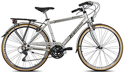 Legnano Ciclo 300 Sanremo, City Bike Uomo, Grigio/Nero, 52