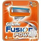 Set 10 GILLETTE Ricambi Fusion Power X 4 Rasoio Rasatura Viso E Corpo