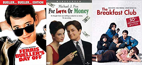 Money Love Life Breakfast Club DVD + For the Love of Money & High School Teen Ferris Bueller's Day Off ... Fun Comedy movie Set Triple Feature Pack -