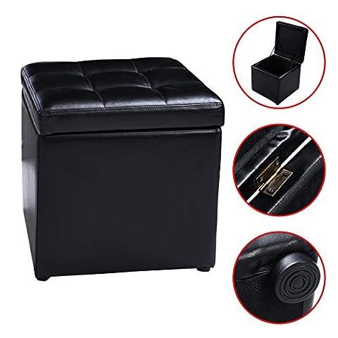 MASCARELLO® Faux Leather Ottoman Pouffe Storage Toy Box Foot Stools