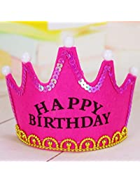OFT - Corona de cumpleaños (para niños, con luces LED), diseño de princesa o príncipe