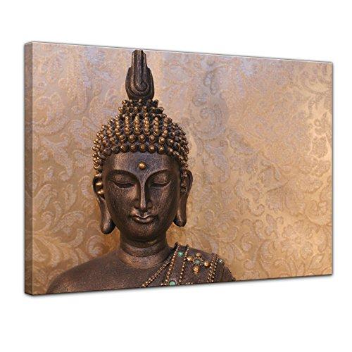 """Kunstdruck mit Winter SALE """"Buddha"""" Bild auf Leinwand - 60 x 50 cm - Leinwandbilder - Bilder als Leinwanddruck - Wandbild von Bilderdepot24 - Geist und Seele - Zen Buddhismus"""