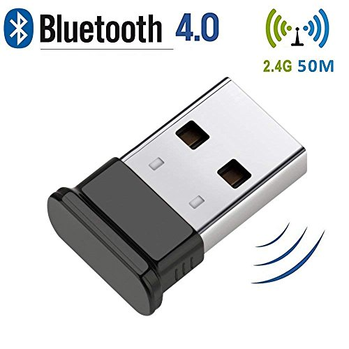 Bluetooth 4.0 USB Dongle, Bluetooth Stick, Unterstützt Bluetooth Kopfhörer, Maus, Tastatur, Druckern, PC, Bluetooth Adapter für PC Windows 10( Plug & Play), Win/8.1/8/7/Vista/XP
