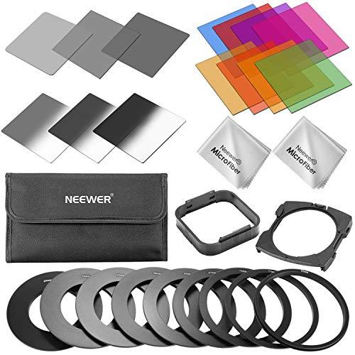 Neewer Filtre d'objectif et kit d'accessoires pour Cokin série P: ND2 ND4 ND8 filtres, filtres...