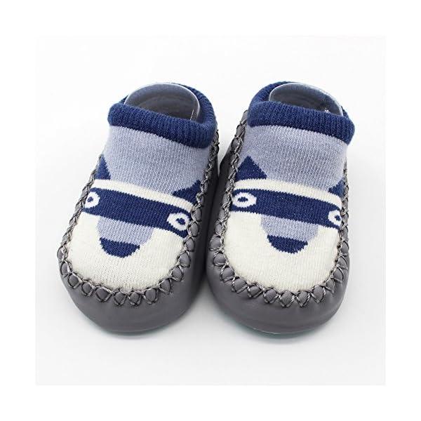 MAYOGO Calcetines Corto Bebe Niño Recién Nacidos Calcetines de Bebé Niña Algodón Antideslizantes Dibujos Animados bebés… 5