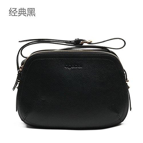 Syknb Single - Umhängetasche Handtasche Diagonal Tasche Leder Black